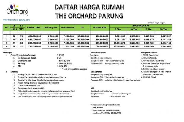 Orchard Residence Parung , Real Estate Big Bos DP 0 % 16225542