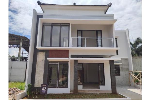 Rumah nuansa Bali 2 lantai pinggir jalan raya di Sawangan Depok