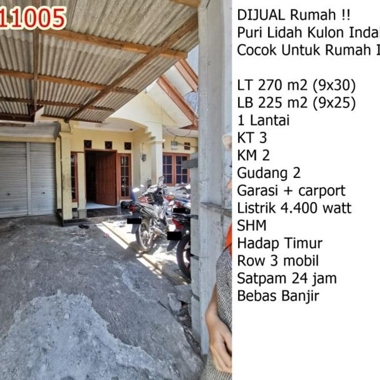 Dijual Rumah Puri Lidah Kulon Indah, COCOK UTK RUMAH INDUSTRI!