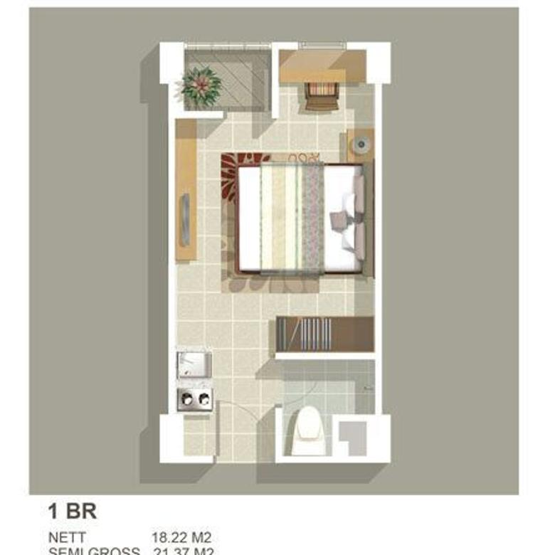 Dijual Unit Apartement Greenbay tipe studio tower H