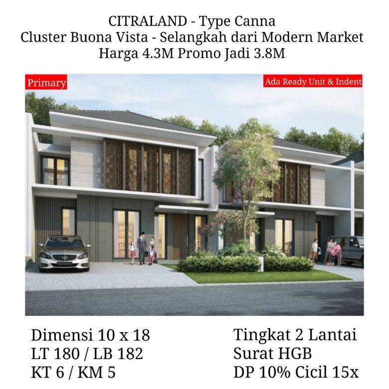 Rumah Citraland Buona Vista Surabaya Promo Cicil Favorit Desai