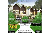 Villa Puncak view langsung kebun teh seluas 1000 Ha Gedeh
