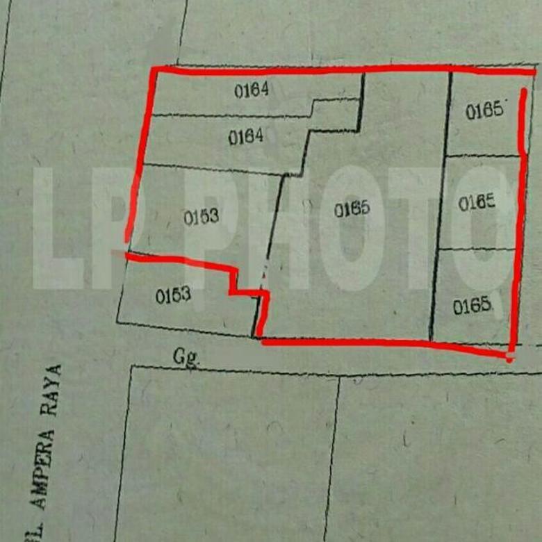 dijual tanah ada rumah tua di ampera raya jakarta selatan