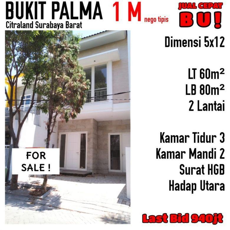 Rumah Bukit Palma Citraland Surabaya Barat Minimalis Siap Huni