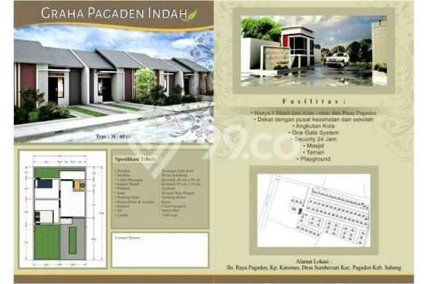 Rumah murah bersubsidi di Subang strategis dekat stasiun Pagaden 9842903