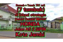 Rumah+Tanah 701m2 (7 Tumbuk) di Lokasi Mahal dan Strategis Jalan AS 2 SIPIN