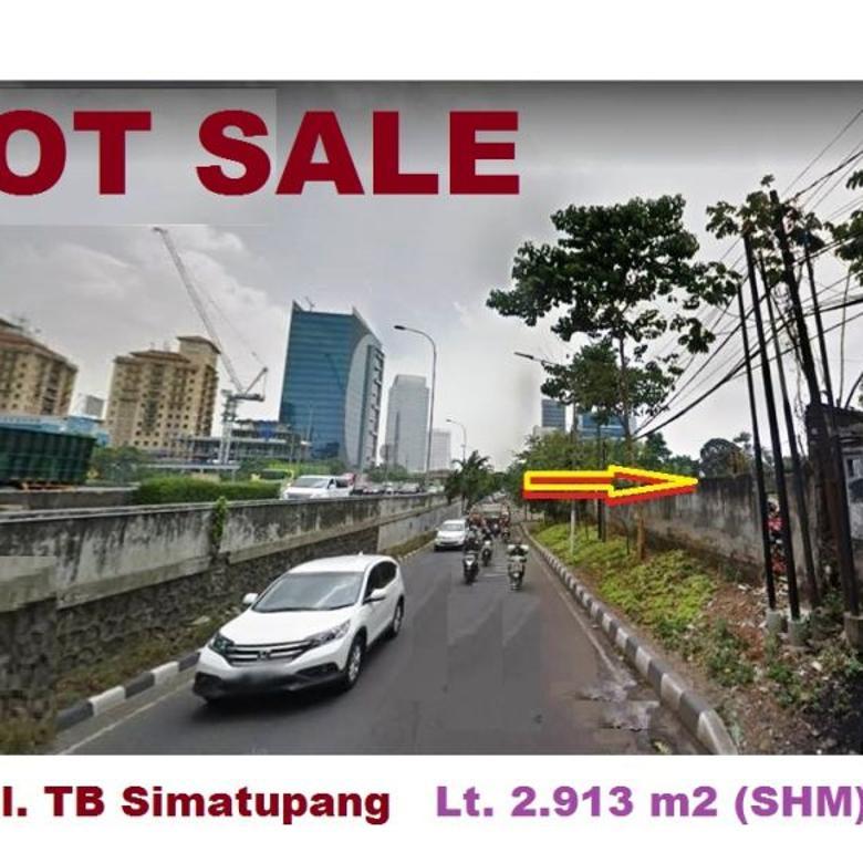 TB Simatupang Raya Lt 2.913 m2 HGB Lebar depan 48,50 m Bisa u/ 23 lantai