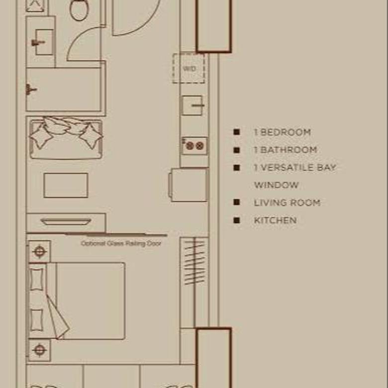 Cepat 5 Unit Gandeng Apartement Orange County Lippo Cikarang Type Studio