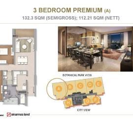 Apartemen Mewah 3 Bedroom Marigold T6 BSD City