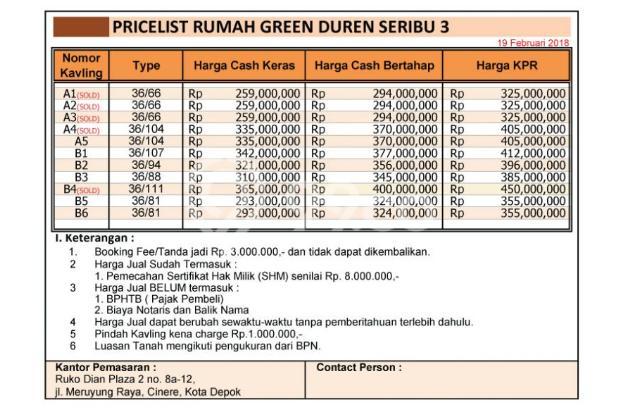 KPR DP %, Modal 8 Jt, Dijamin Anda Punya Rumah Duren Seribu 3 16521726