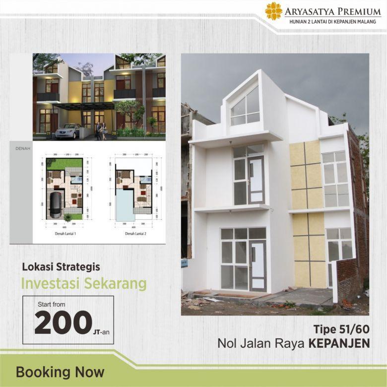 Rumah 2 Lantai Termurah Di Kepanjen Malang Arya Satya Premium