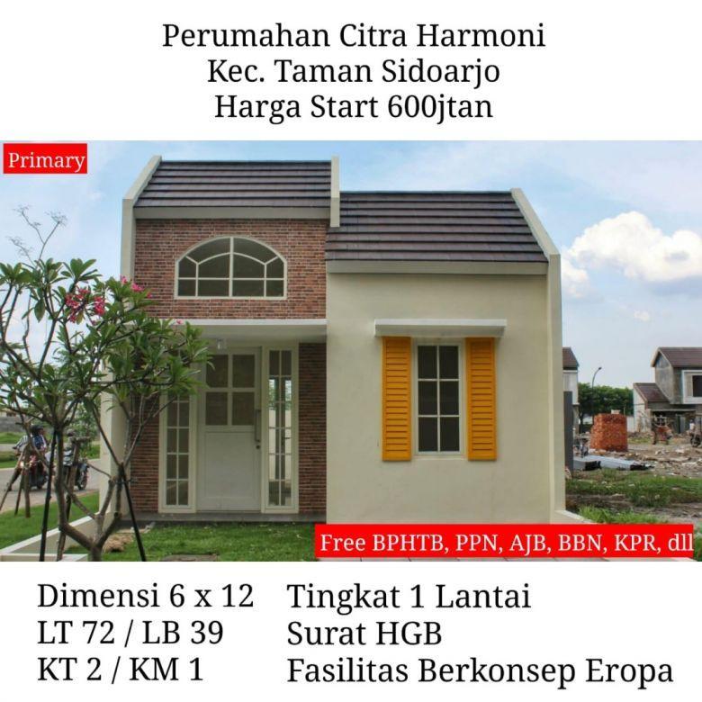 rumah citra harmoni sidoarjo murah free biaya fasilitas mewah