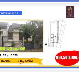 Jual rumah rumah hoek harga spesial, lokasi strategis