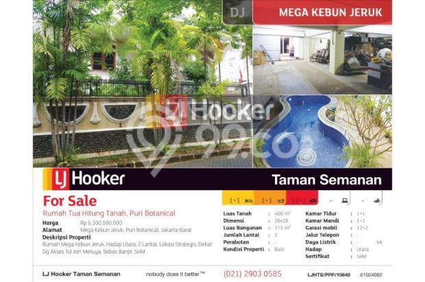 Rumah Mega Kebun Jeruk, Puri Botanical, Jakarta Barat, 20x20m, 2 Lt 10876212