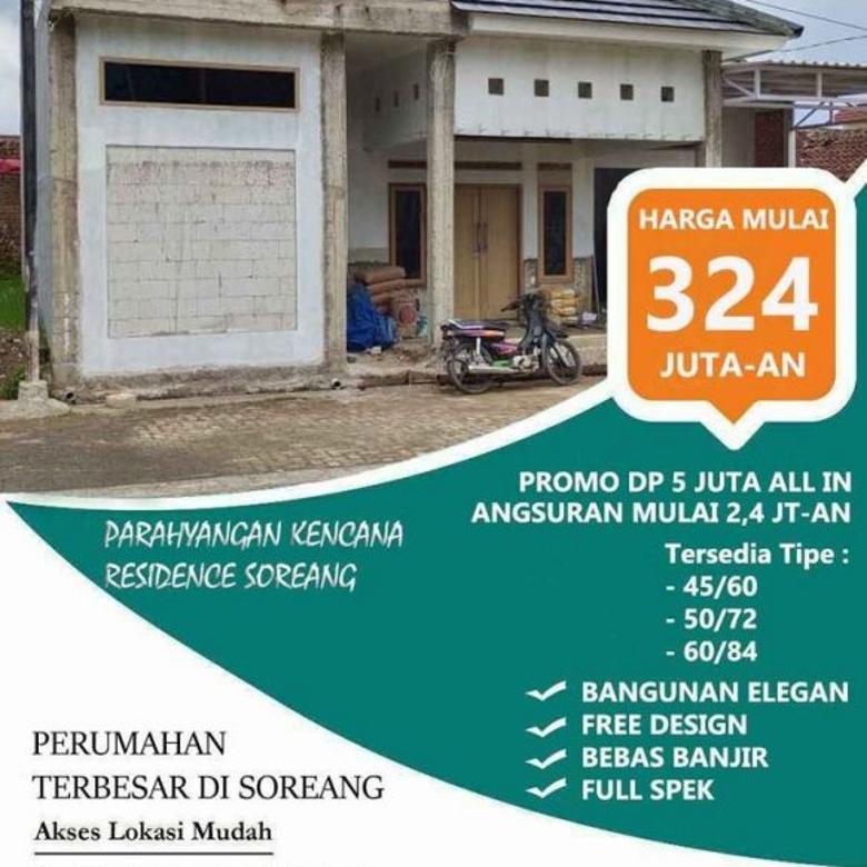 Ready, Hunian Strategis Promo Dp 5jt All in; Soreang, Bandung