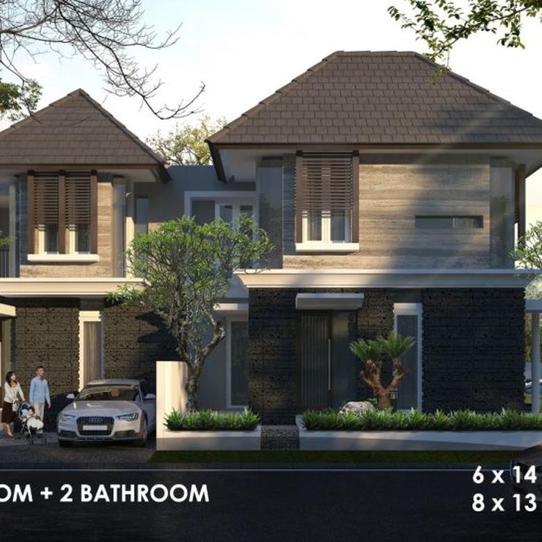 (AJ). Rumah baru ditengah kota Surabaya dengan design modern tropis bagus d