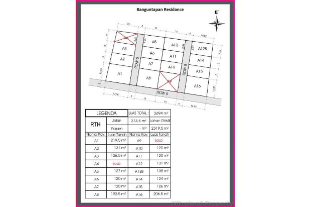 Rp425jt Tanah Dijual