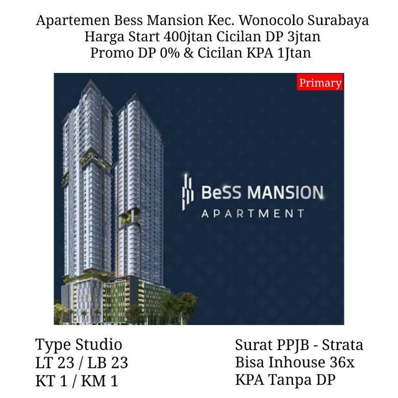 Apartemen Bess Mansion Wonocolo Surabaya Cash Inhouse KPA