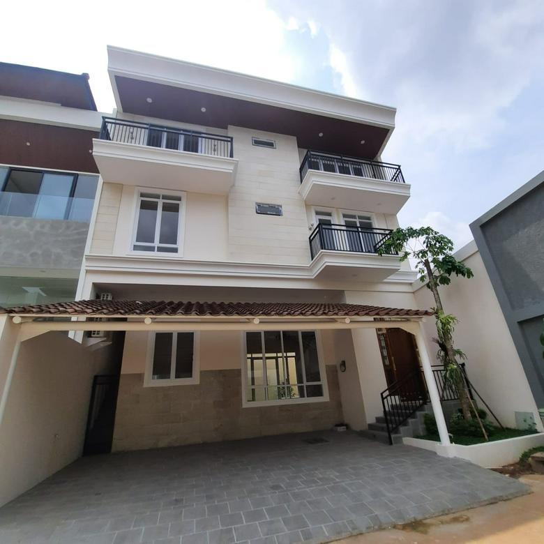 Rumah baru di pondok indah siap huni 3 lantai dekat PIM dan Tol semi furnished Pondok indah