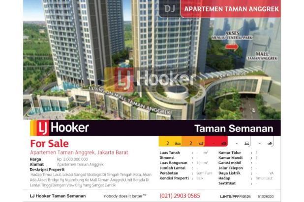 Apartemen Taman Anggrek, Jakarta Barat, Brand New, 70m 5199381