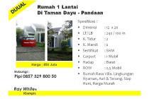 Rumah Villa Di taman dayu Resort Strategis&Bebas Banjir Harga Murah LT 239m
