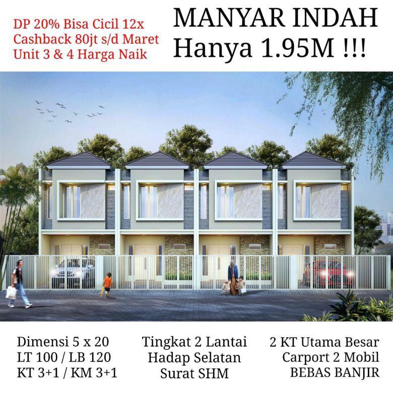 Rumah baru Manyar Indah tengah kota  Surabaya