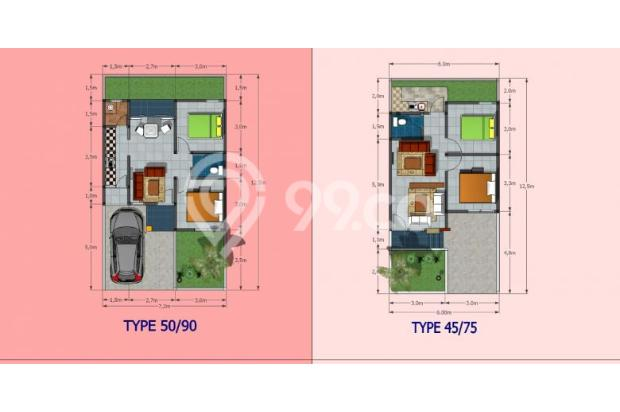 Rumah Dijual di Perumahan Cluster Cisaranten, Lokasi Strategis Harga Terjan 13871226