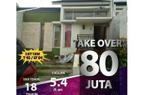 Rumah takeover Turun DP80JT(NEGO)Ccln 5jtan SHM dkt Jln raya cilengkrang