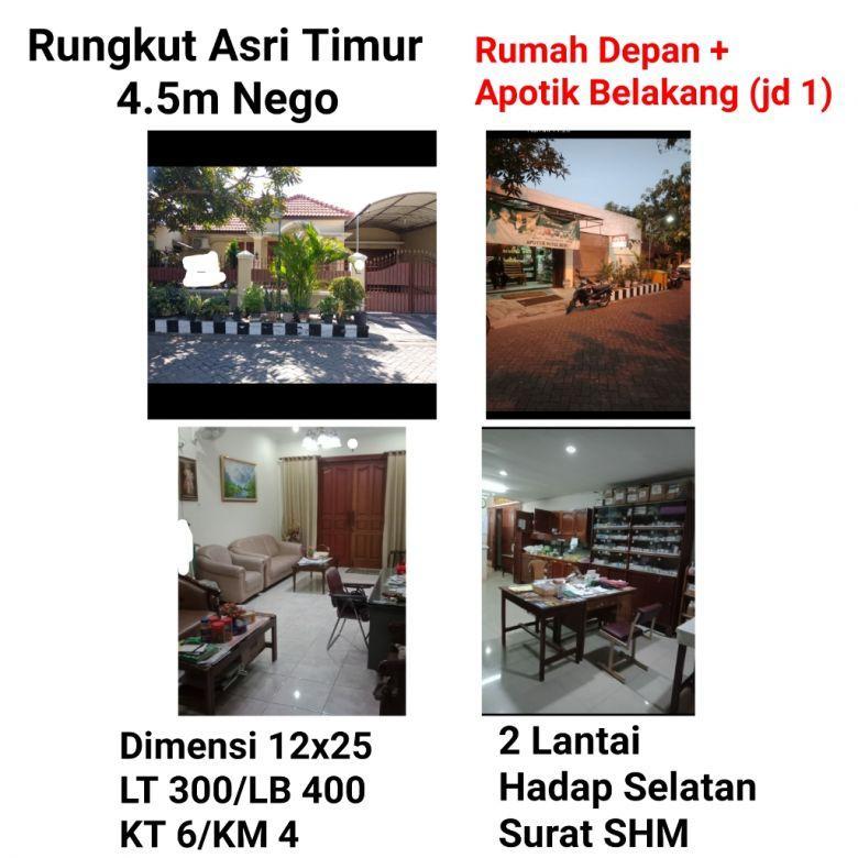 Rumah Rungkut Asri Timur Kec Rungkut Surabaya Besar Nyaman