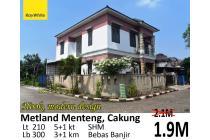 Dijual Rumah Hook di Metland Menteng Cakung Jakarta Timur