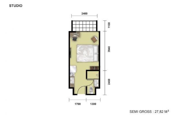 Rp869jt Apartemen Dijual