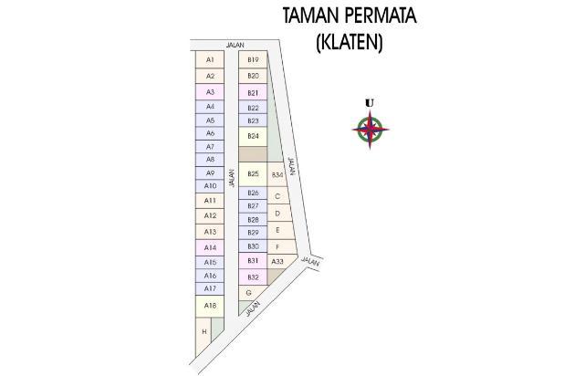 Tanah di Perumahan, Dekat RSI Klaten, 12 X ANGSURAN TANPA BUNGA 17711453