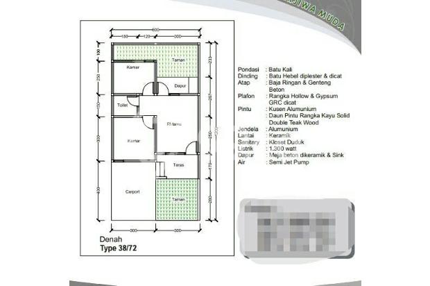 Dijual Rumah Cluster Murah Nyaman dan Asri di Setu, Bekasi 13243735