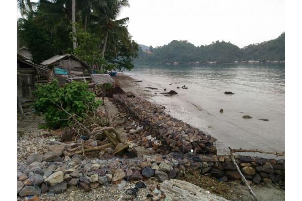 dijual tanah sekaligus rumah pinggir pantai di Teluk Kiluan, Lampung! Nego 12397145