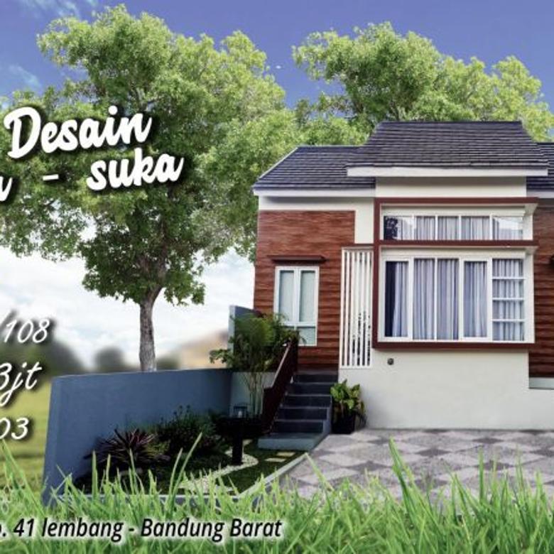 Rumah desain bebas di perbukitan lembang - bandung barat 30mnt