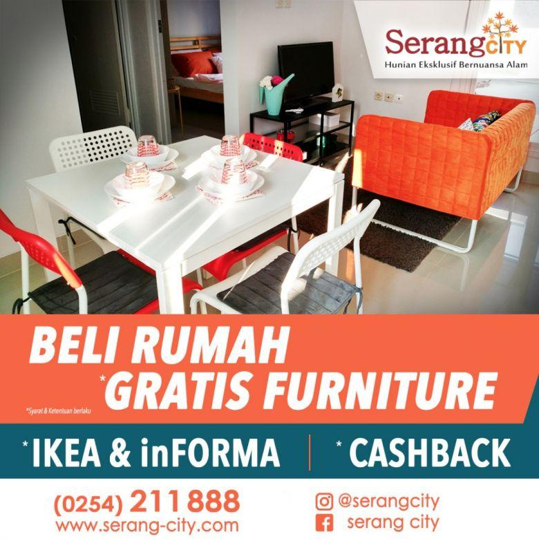 Rumah Serang City Imut Full Furniture IKEA