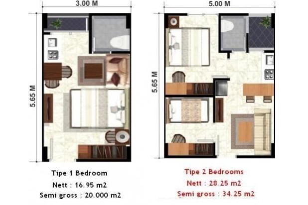 Rp25jt/thn Apartemen Disewa