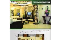 Tipe Studio Connecting 2BR harga MURAH hanya di GREEN PRAMUKA CITY