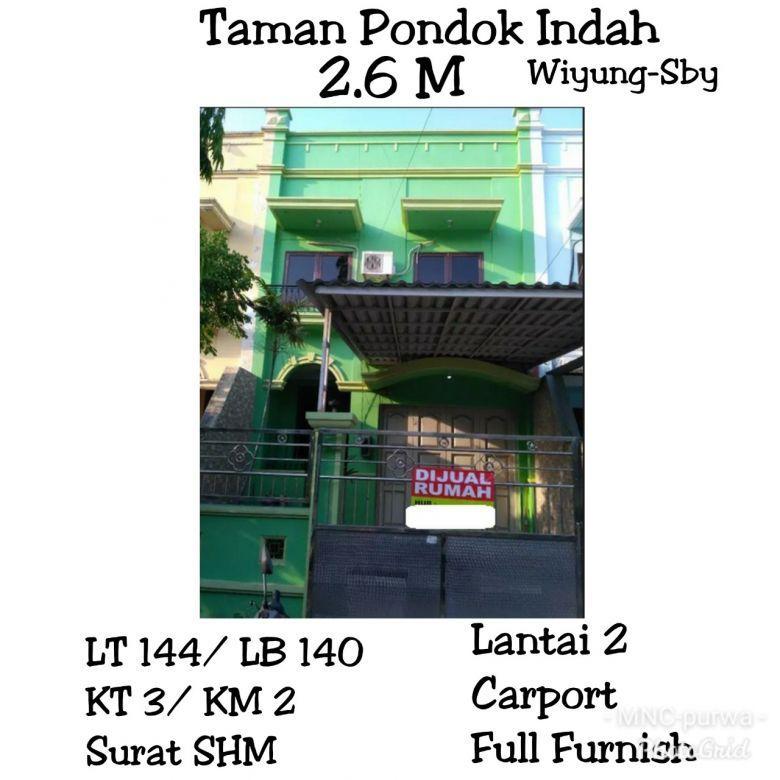 Rumah siap huni Taman Pondok Indah Wiyung Surabaya