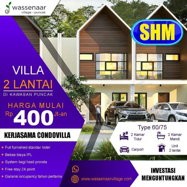 Jual Villa Sejuk Fasilitas Camping Ground Pribadi