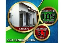 Rumah takeover DP 105jt nego,ccln 3jtan SHM Dkt Tol buah batu,margacinta