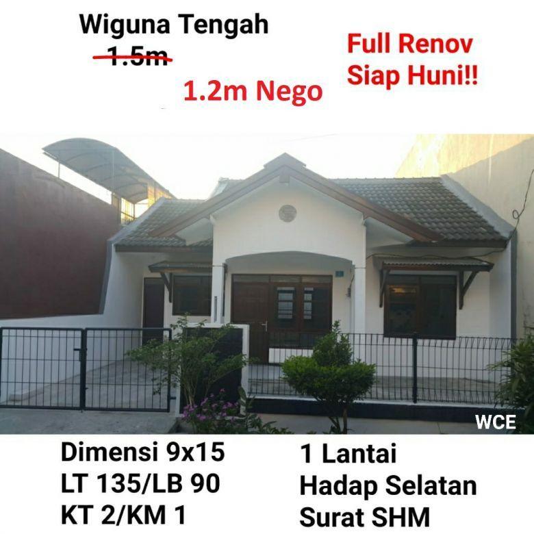 Rumah Wiguna Tengah Gunung Anyar Surabaya Full Renov Siap Huni