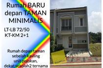 Rumah baru depan taman, harga murah unit pojokan @BSD