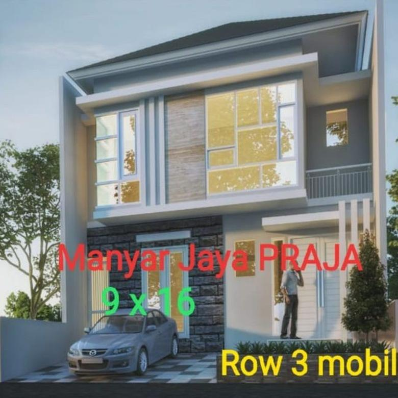 Rumah Manyar Jaya Gress Minimalis, Row 3mobil