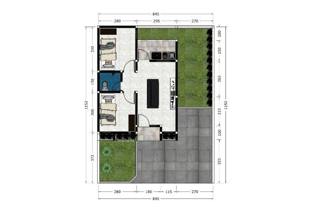 Rumah 2 Unit Baru Siap Bangun Type 40/100 Lingkungan Asri Aman dan Nyaman 18274487