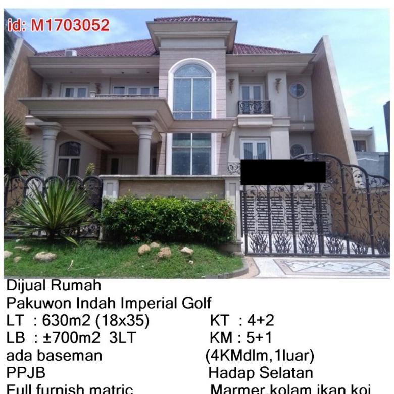 Dijual Rumah MEWAH Pakuwon Indah Imperial Golf