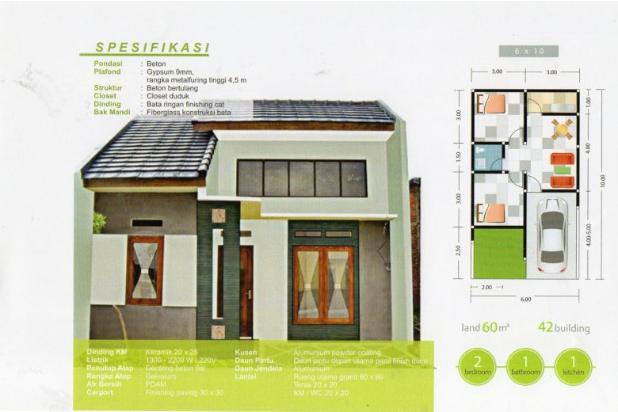 Dijual Rumah Baru Permata Pagesangan, Surabaya. 15145511