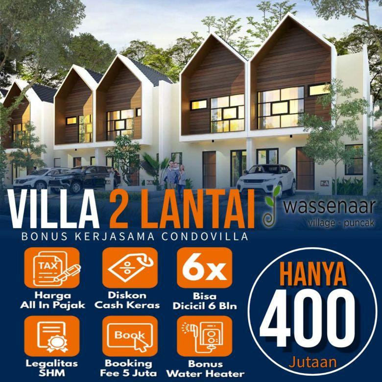 Jual Villa 2 Lantai Di Kawasan Wisata Puncak