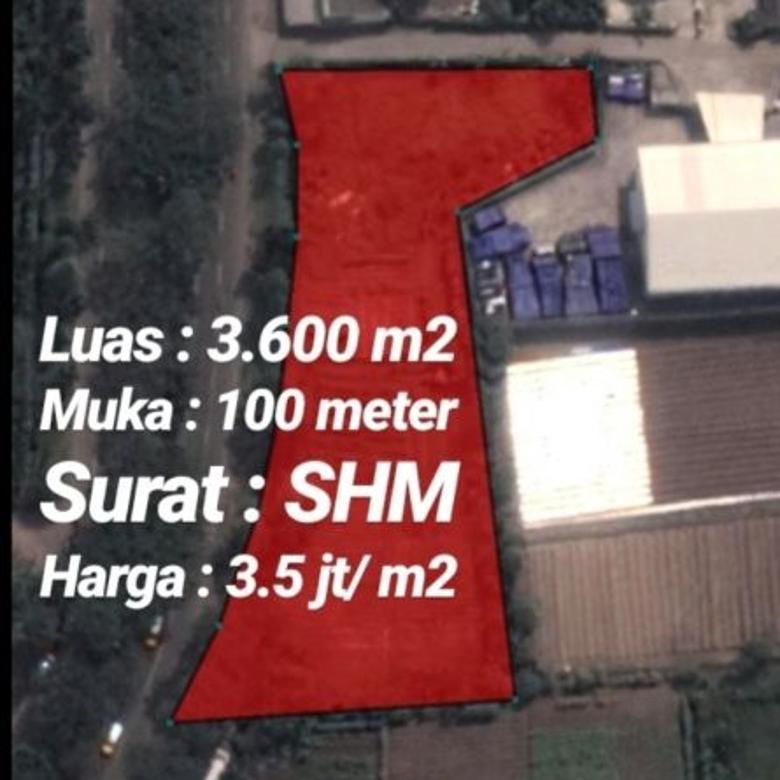 Tanah 3.600m2 Dijalan Pemda Tigaraksa Kec Cikupa Kab Tangerang