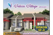 Perumahan Velicia village Type 40/60 KPR bank Syariah dibekasi